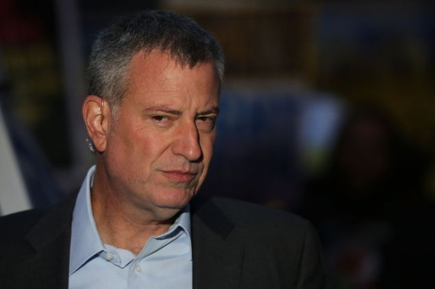 Mayor Bill de Blasio. (Photo by Spencer Platt for Getty Images)