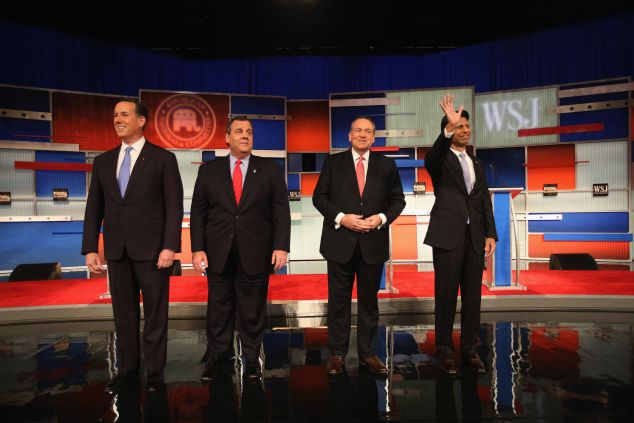 The four Republicans tonights. (Photo: Getty Images)