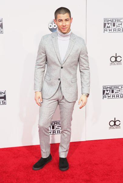 Nick Jonas in Topshop (Photo: Mark Davis/Getty Images).