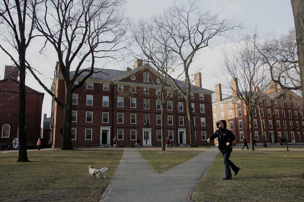The storied yard at Harvard College in Cambridge, Massachusetts, is on tenterhooks as at least four buildings have been evacuated in the wake of a bomb threat. ( Joe Raedle/Getty Images)