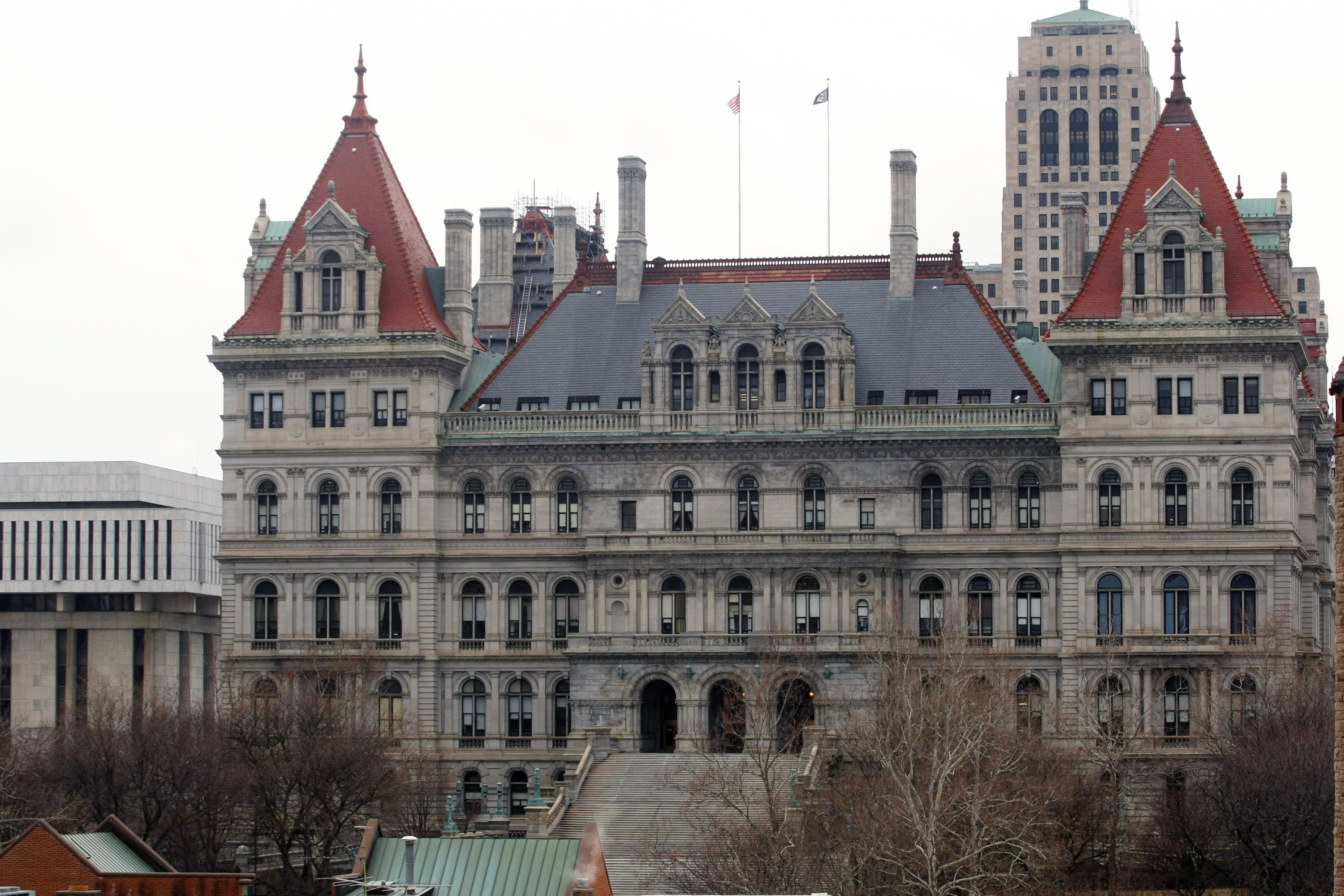 The New York State Capitol building is seen March 16, 2008 in Albany.