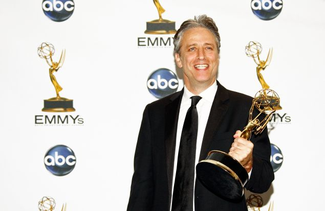 Jon Stewart is taking his Emmys over to HBO. (Getty)