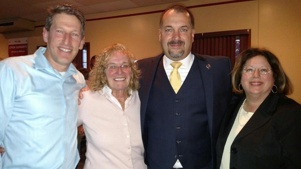 From left: Zwicker, Schaffer, Danielsen, and Greenstein.