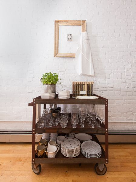 Vintage dinnerware, china and crystalware finds (Photo: Emily Assiran for Observer).