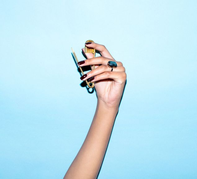 'The Libra Collection' balances the gold look with a silver metal. (Photo: Jimmy Marble / Ringly)