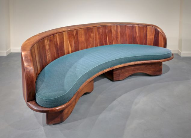 A Wharton Esherick sofa from the Moderne Gallery of Philadelphia, $125,000. (Courtesy: Artsy.net)