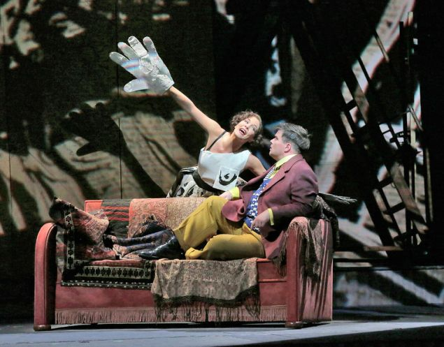 Marlis Petersen and Daniel Brenna in Berg's Lulu. (Photo by Ken Howard/Metropolitan Opera)