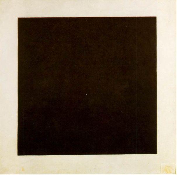 Kazimir Malevich, Black Square, c.1923, State Russian Museum, St. Petersburg, Russia. (Photo: Wikimedia Commons)