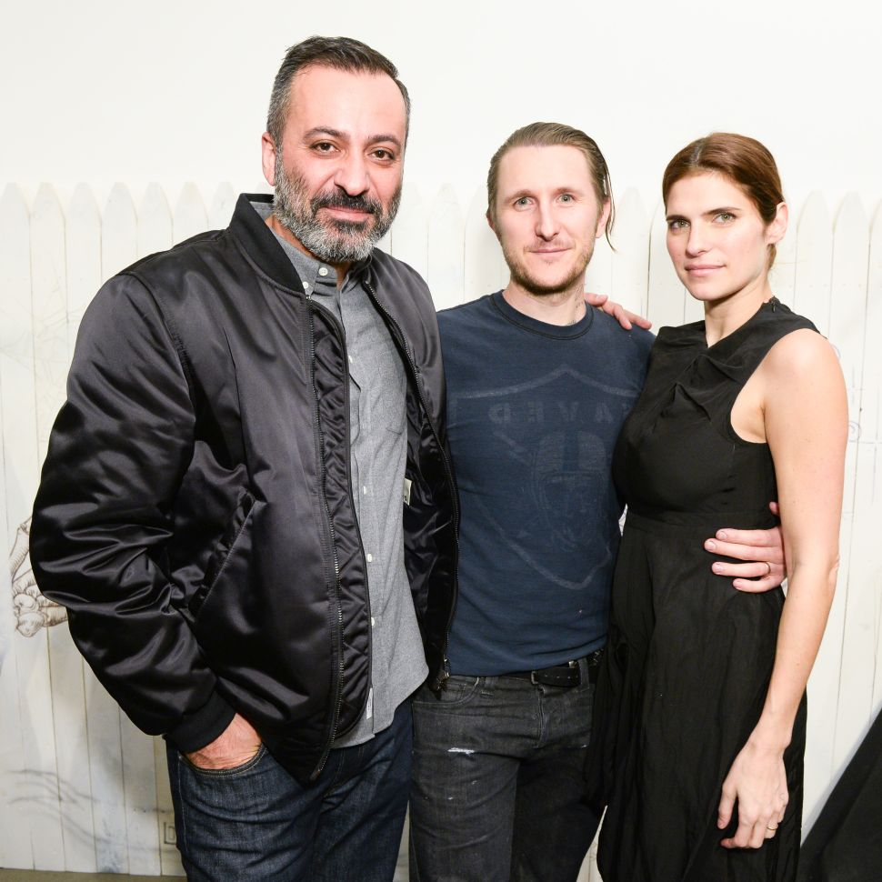 Mazdack Rassi, Scott Campbell, Lake Bell (Photo: Joe Schildhorn for BFA).