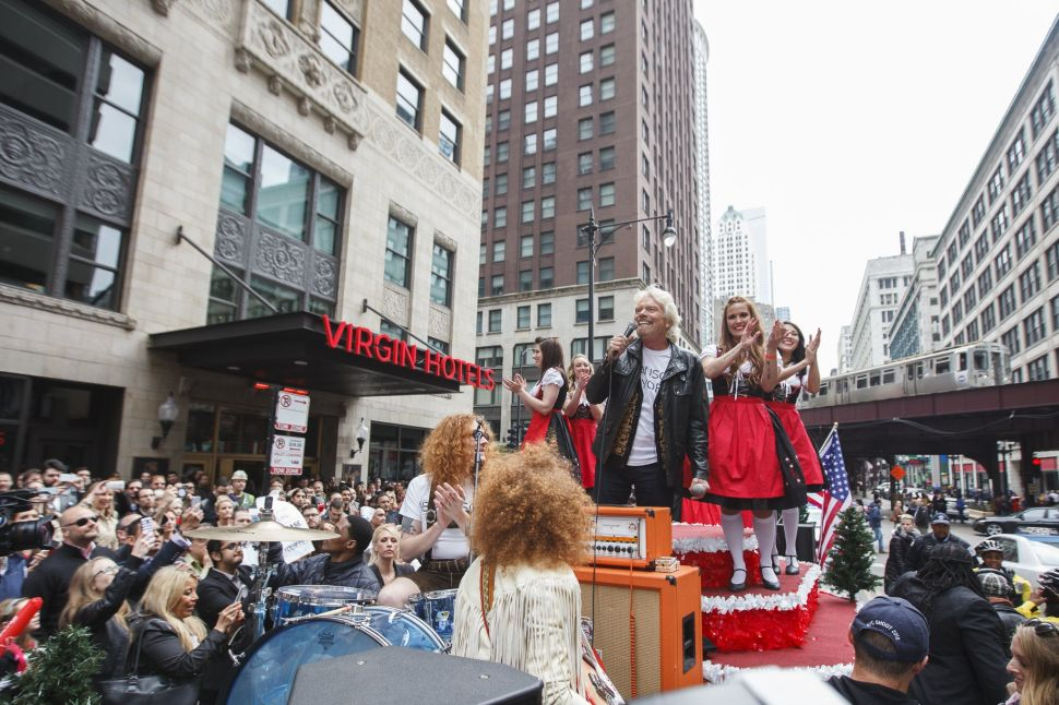 Richard Branson attend the launch of Virgin Hotels in Chicago (Photo: Virgin Atlantic).
