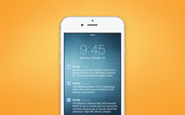 Notify, the new notification app from Facebook, was released on Wednesday.