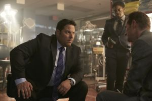 "HEROES REBORN -- ""June 13th - Part Two"" Episode 108 -- Pictured: (l-r) Greg Grunberg as Matt Parkman, Cle Bennett as Harris Prime, Jack Coleman as HRG -- (Photo by: Sophie Giraud/NBC)"