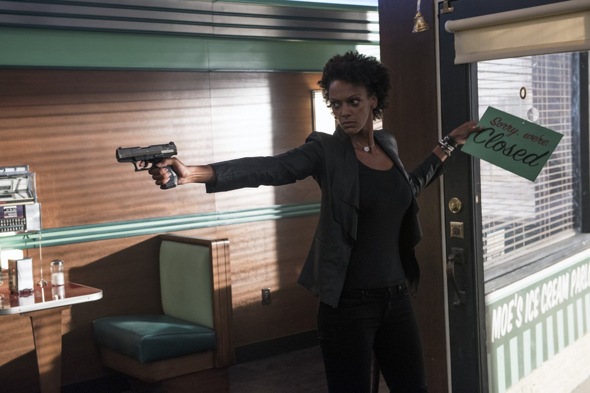 "HEROES REBORN -- ""Sundae, Bloody Sunday"" Episode 109 -- Pictured: Judith Shekoni as Joanne Collins -- (Photo by: Christos Kalohoridis/NBC)"