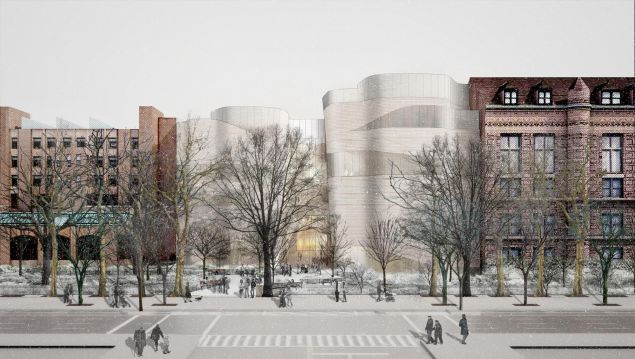 The facade of the Gilder Center. (Photo: Courtesy of Studio Gang Architects)