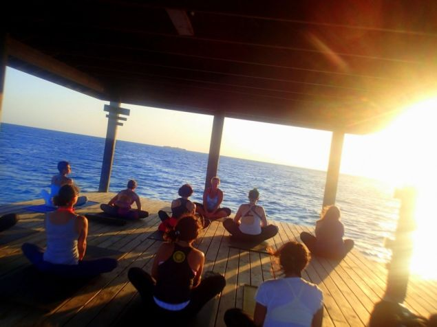 This view is far superior to your instructor's leggings (Photo: Belize Yoga).