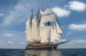 The three-masted Peacemaker has been owned by the religious group Twelve Tribes since 2000.