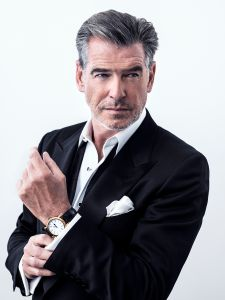 Pierce Brosnon wearing a Speake-Marin watch