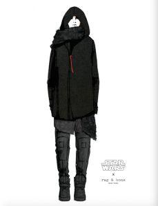 Kylo Ren inspired look designed by Rag & Bone.