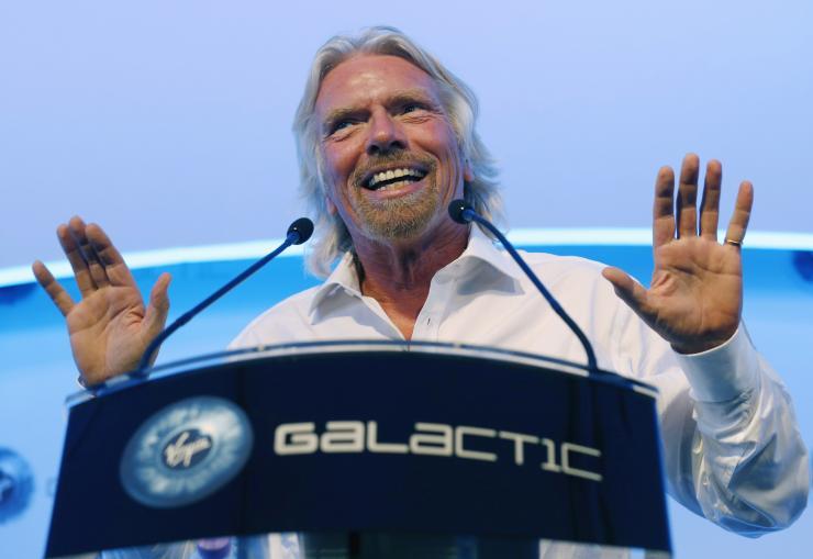 Richard Branson announces the launch of Virgin Galactic (Photo: Virgin Atlantic).