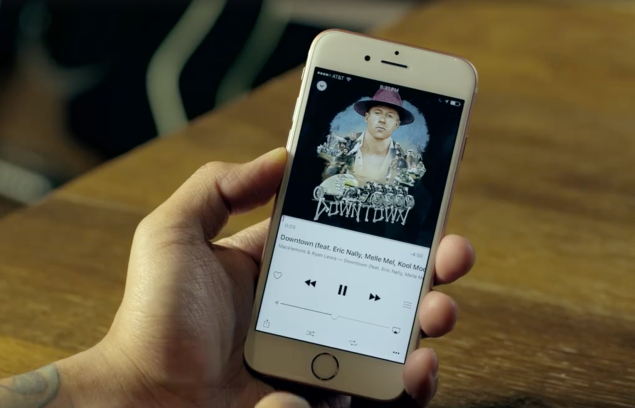 A screenshot of the video announcement for Facebook's new music feature.