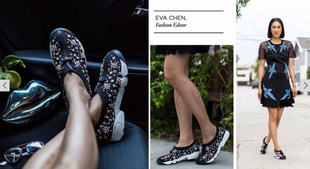 Eva Chen shows off how to style those Dior sneakers