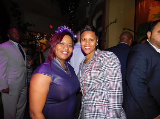 Senator Shavonda Sumter (D-35) and her Chief of Staff Judith Fenelus