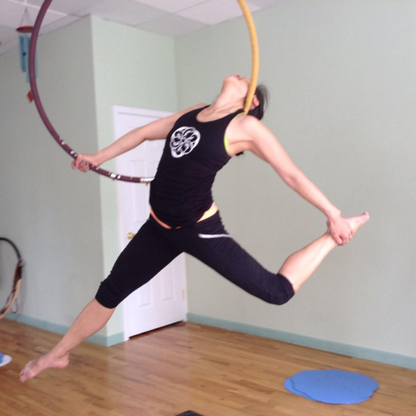 Is your neck strong enough to support your entire body? (Photo: Yoga Pole Studio).
