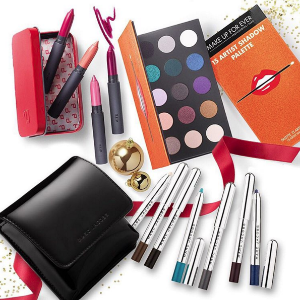 Marc Jacobs eyes and Bite lips make anyone holiday party ready (Photo: Sephora Instagram).