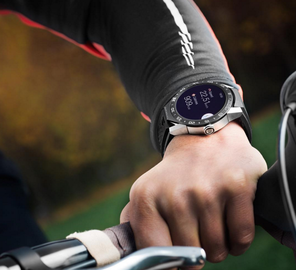 The Connected is a calorie-counter that's ideal for cycling (Photo: Tag Heuer Instagram).