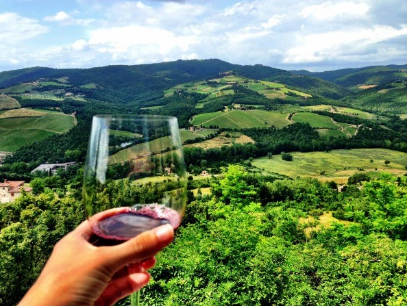 The ultimate relaxation: vino and vinyassa (Photo: Alchemy Tours).