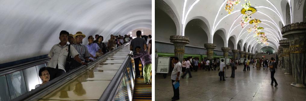 Pyongyang's subway network