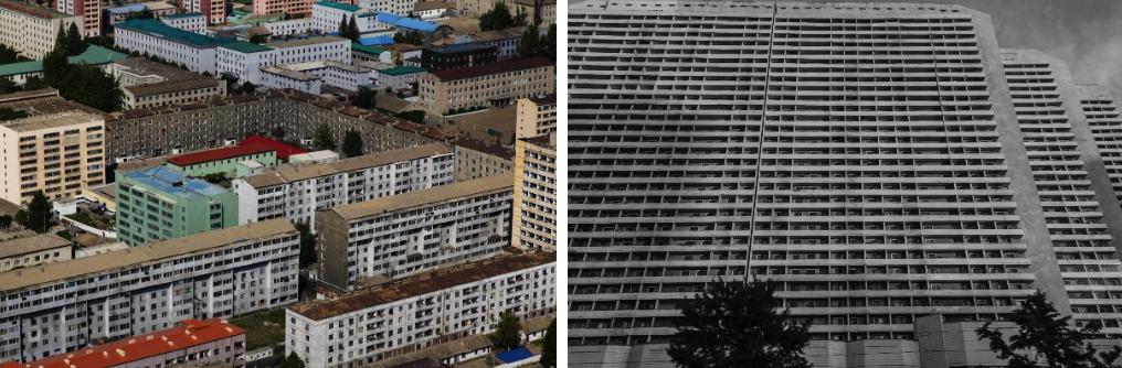 Soviet-style buildings in Pyongyang