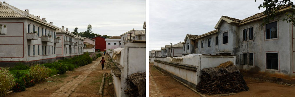 Worker housing at a farming cooperative outside Kaesong