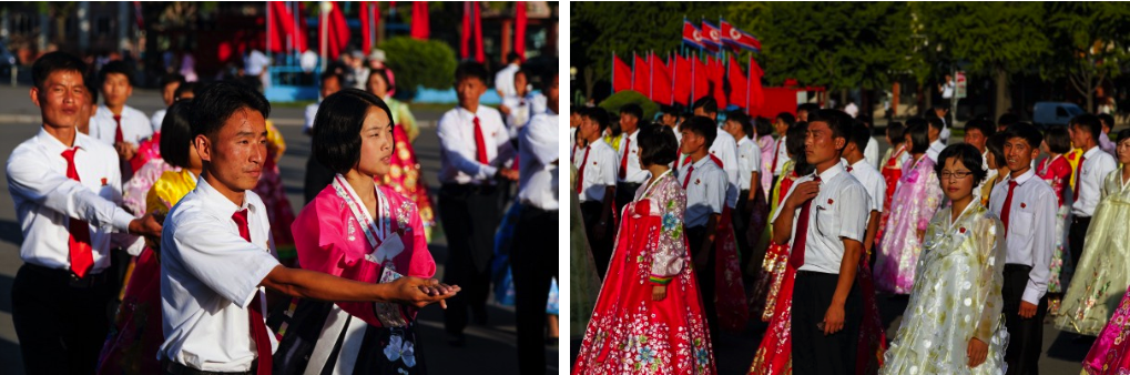 Beautiful colors, but not a lot of smiles at the 9.9.15 Mass Dance