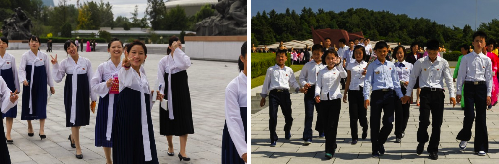 Exchanging smiles in North Korea
