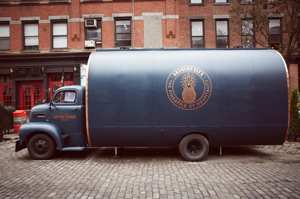 The Absolut Elyx Truck (Photo: Philip Walters).