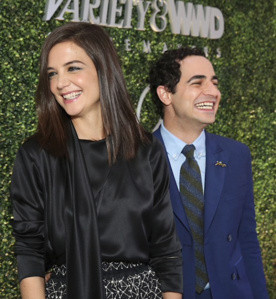 Katie Holmes and Zac Posen attend the first annual StyleMakers luncheon (Photo: Courtesy Variety & WWd)