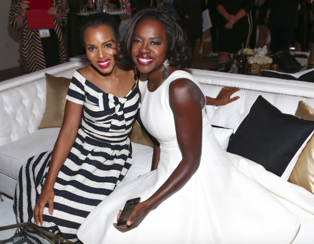 Kerry Washington and Viola Davis attend the first annual Variety & WWD StyleMakers luncheon presented by Smashbox Cosmetics (Photo: Courtesy WWD & Variety).