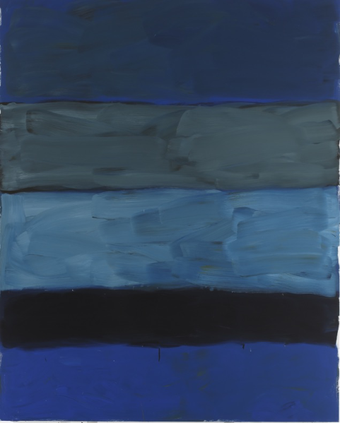 Sean Scully's Landline Deep Blue Sea, 2015. (©Sean Scully, Courtesy of Timothy Taylor Gallery, London)