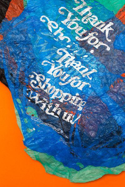 Thank You (Orange), 2015, by Miranda Lichtenstein. (Photo: Courtesy of Elizabeth Dee Gallery)