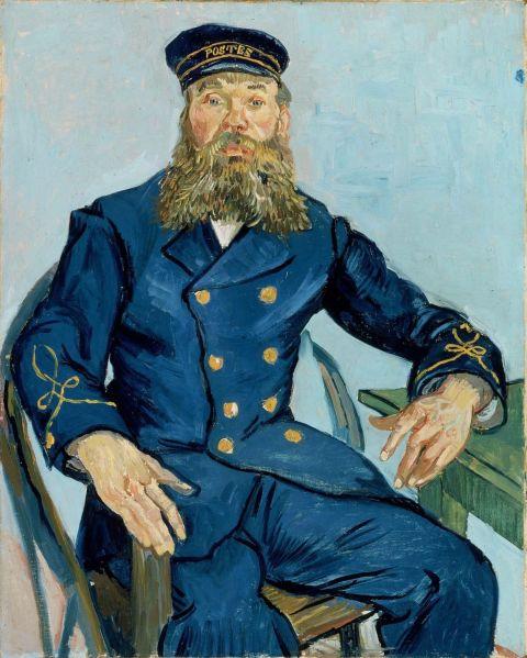 Portrait of the Postman Joseph Roulin by Vincent van Gogh.
