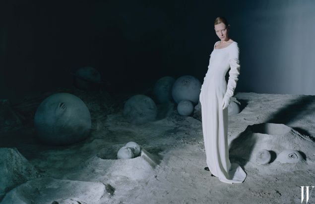 Ms. Blanchett in Boss (Photo: Courtesy W).