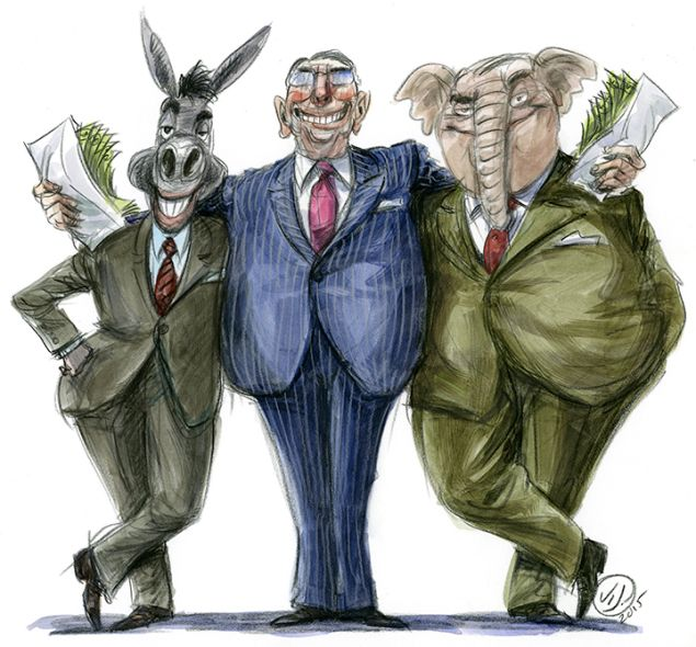 ILLUSTRATION BY VICTOR JUHASZ.
