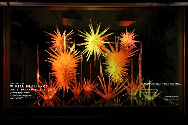 Mr. Chihuly's window creation (Photo: Courtesy Barneys New York).