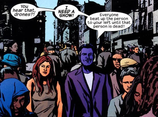 The Purple Man, just having fun. (Image: Alias #28)