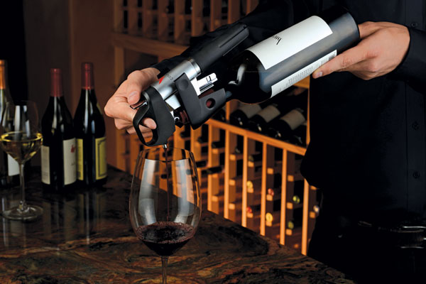 The Coravin uses pure argon gas to protect the remaining wine from oxidation (Photo: Decanter).
