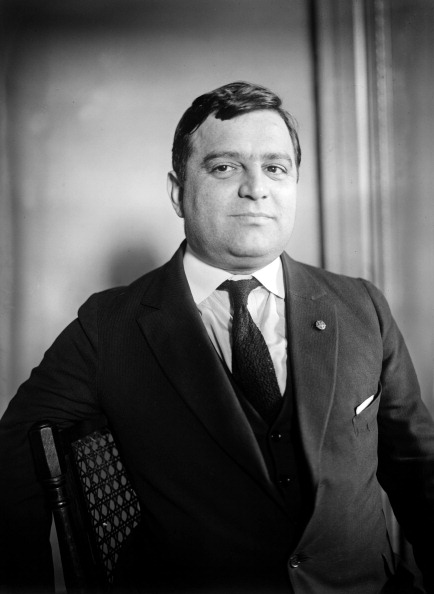 Fiorello LaGuardia, oft cited as Mr. de Blasio's favorite mayor. (Photo by APIC/Getty Images)