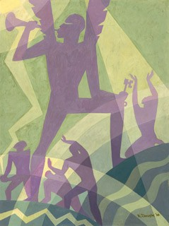 The Judgement Day by Aaron Douglas joined the collection of the National Gallery in Washington, D.C.