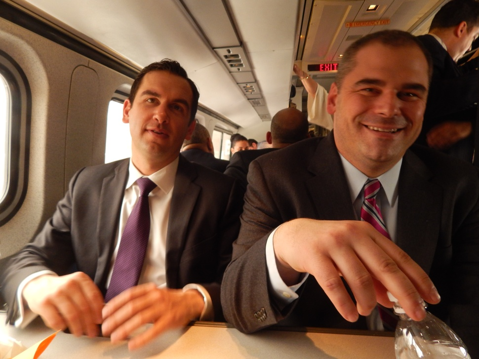 """""""There's more happening on this train than the 2017 gubernatorial contest."""""""