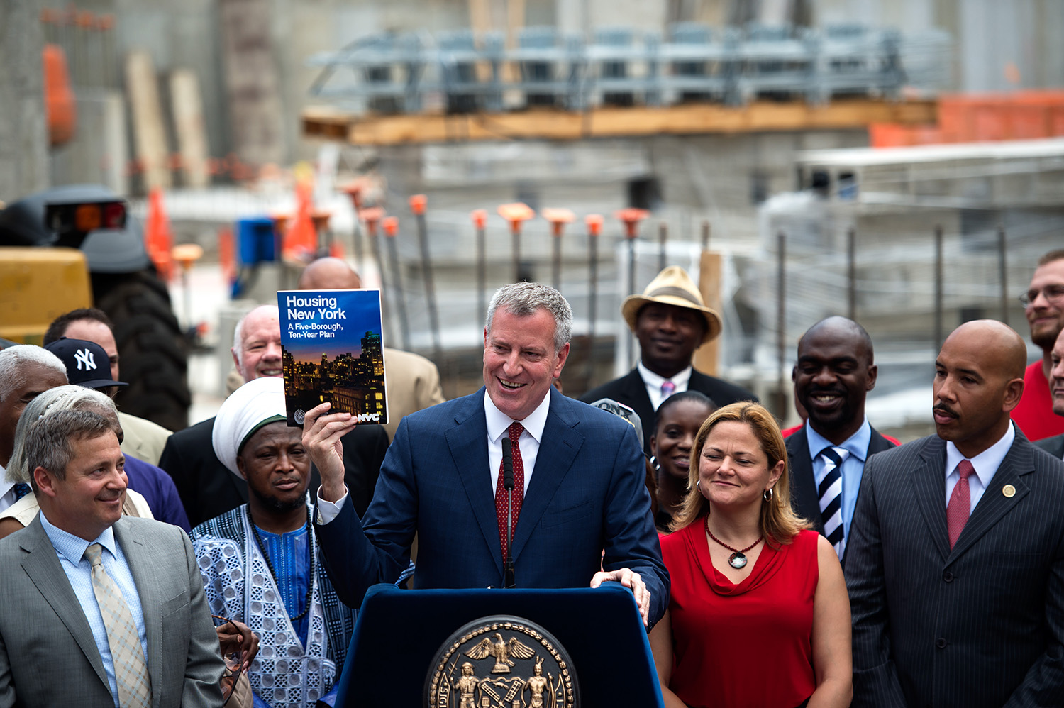 Mr. de Blasio's affordable housing plan is meeting with disapproval from Community Boards across the city. (Photo: Demetrius Freeman/Mayoral Photography Office)